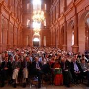 Publikum in der Neubaukirche zu Würzburg beim Wasserforum 2011