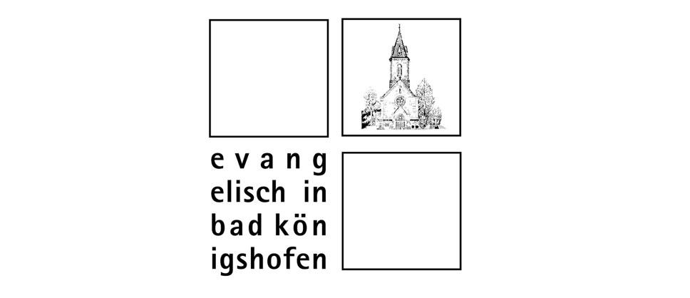"""Logo """"Evangelisch in Bad Königshofen"""""""