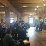 Auditorium des 13. Wasserforums während des Vortrags von Herrn Dr. Beinhofer