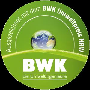 Label des BWK-Umweltpreises 2018