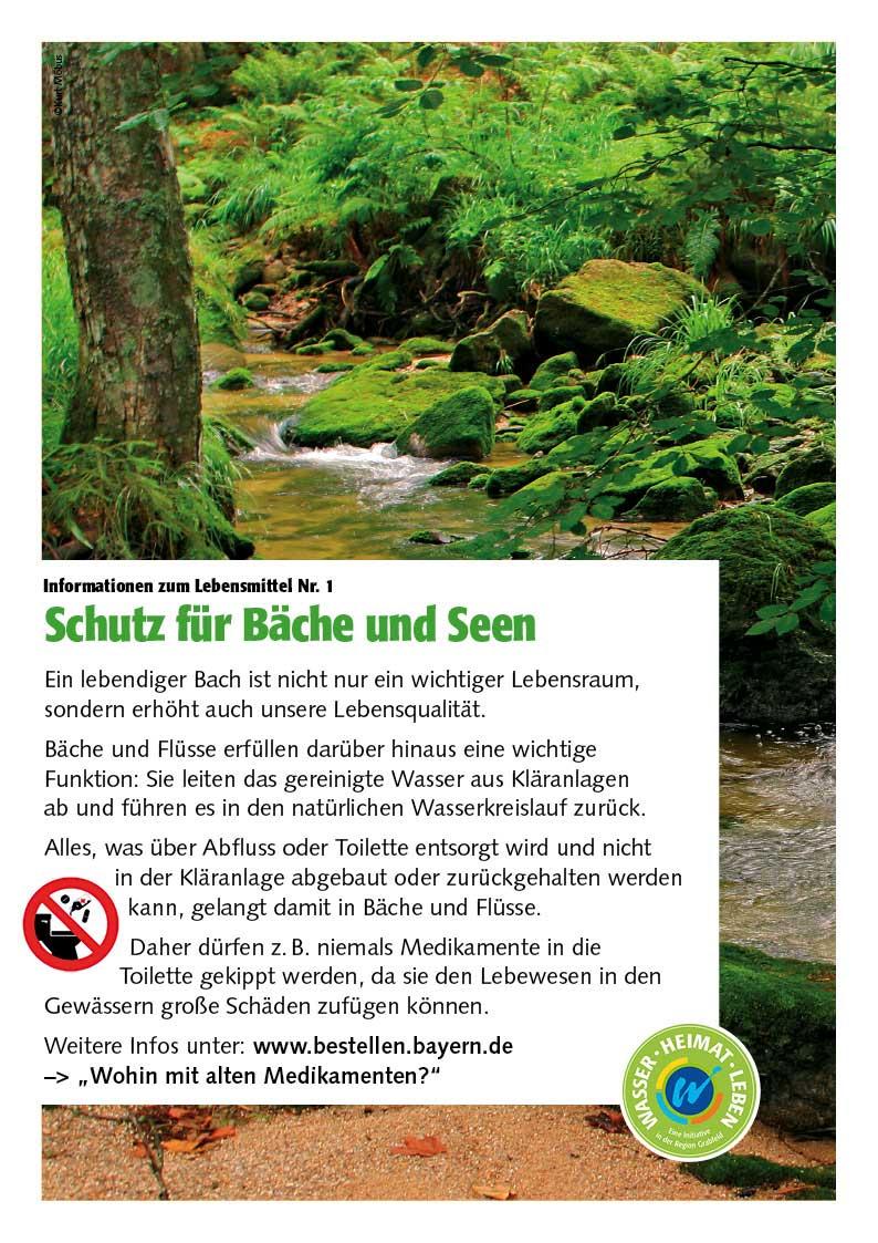 Poster zum Thema Schutz für Bäche und Seen