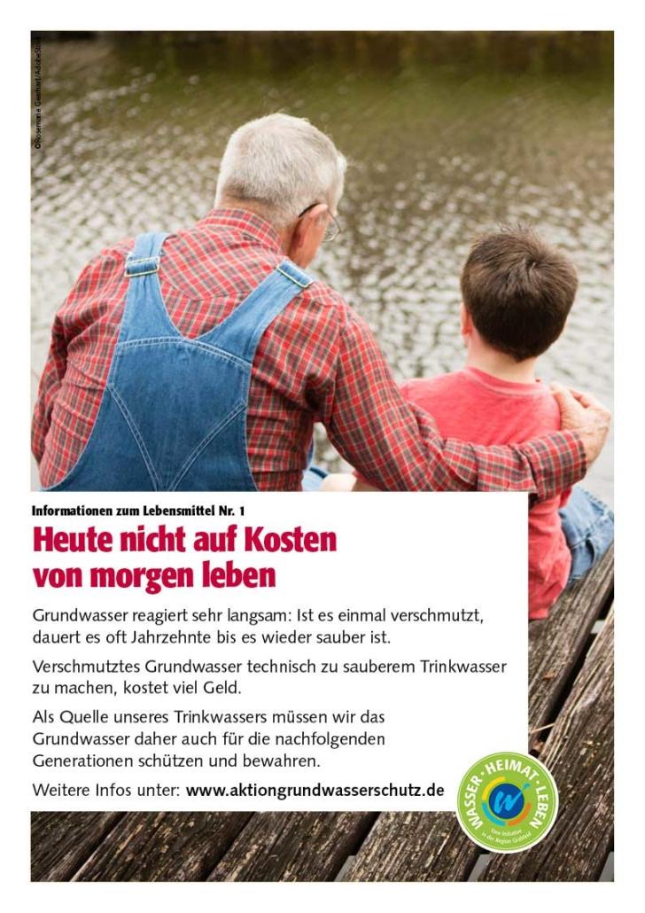 """Poster """"Heute nicht auf Kosten von morgen leben"""""""