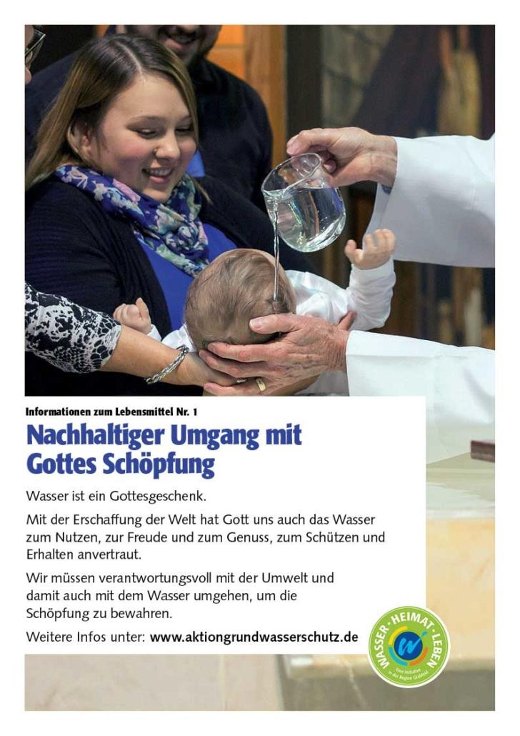 Poster zum Thema nachhaltiger Umgang