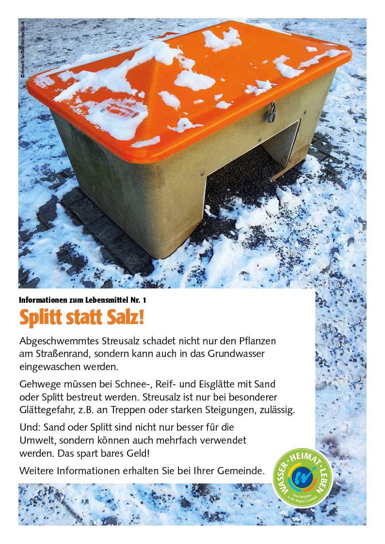 Poster zum Thema Split statt Salz