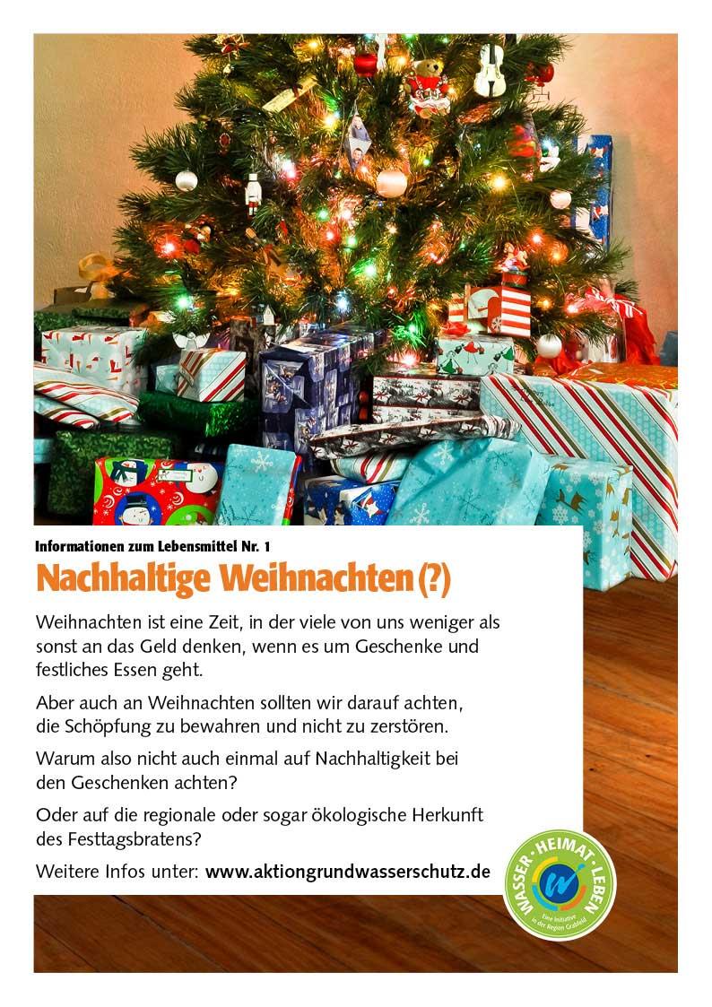 Poster Nachhaltige Weihnachten(?)