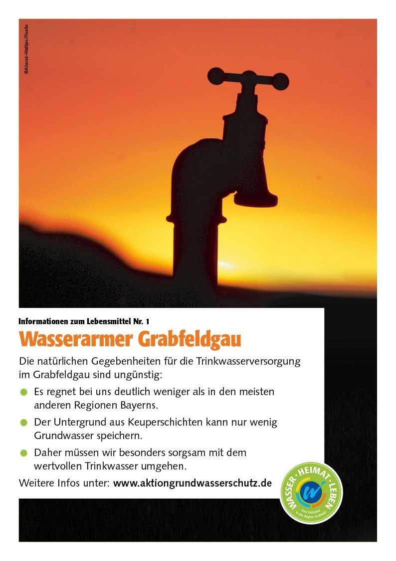 """Poster zum Thema """"Wasserarmer Grabfeldgau"""""""