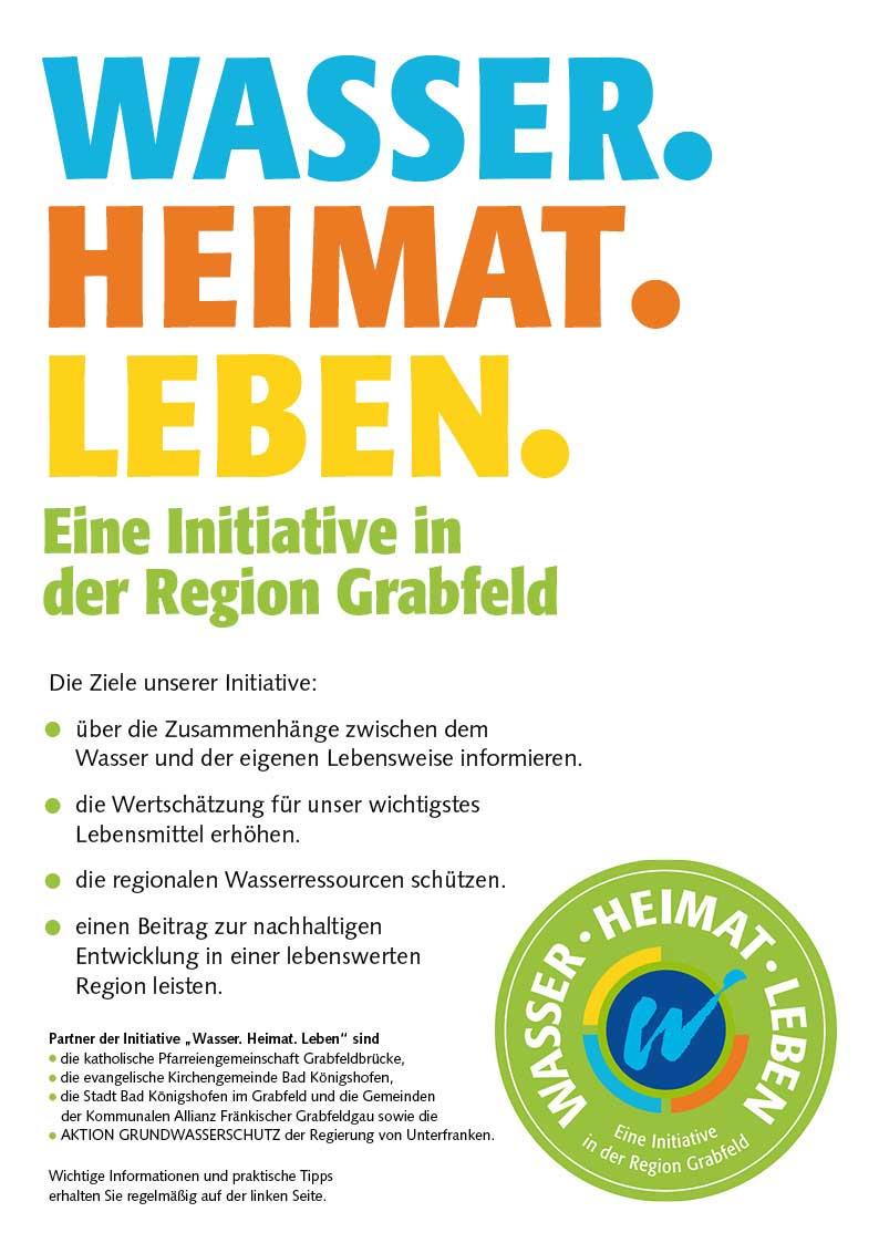 Standardposter WASSER. HEIMAT. LEBEN. Eine Initiative der Region Grabfeld.