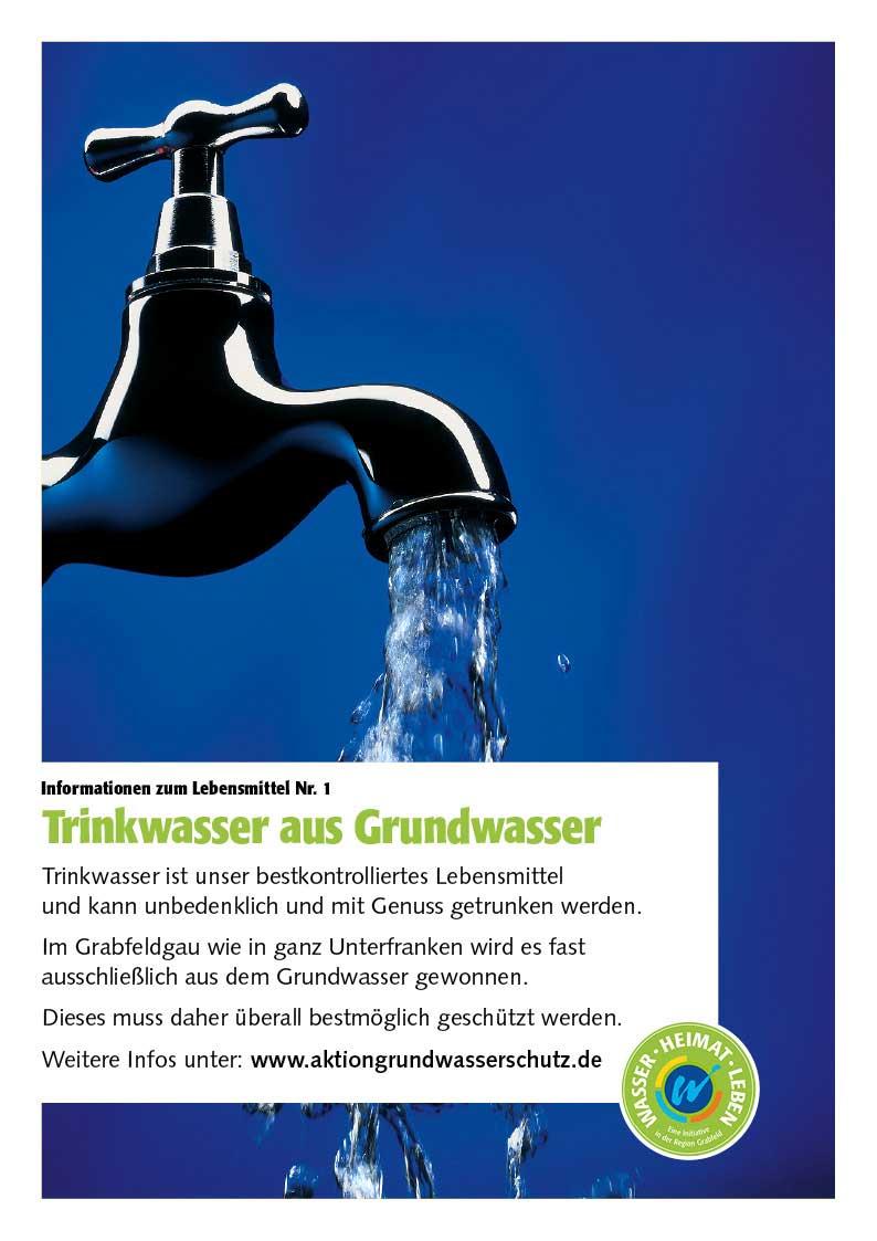 """Poster zum Thema """"Trinkwasser aus Grundwasser"""""""