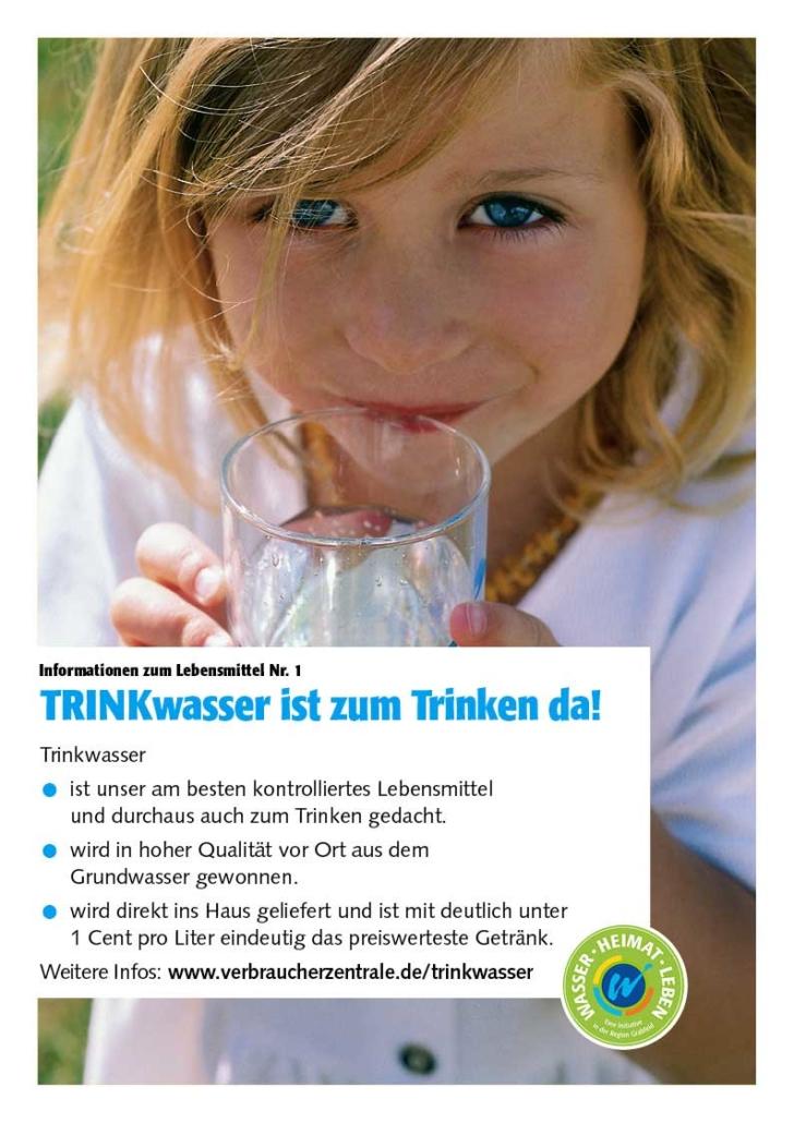 """Poster zum Thema """"Trinkwasser ist zum Trinken da!"""""""