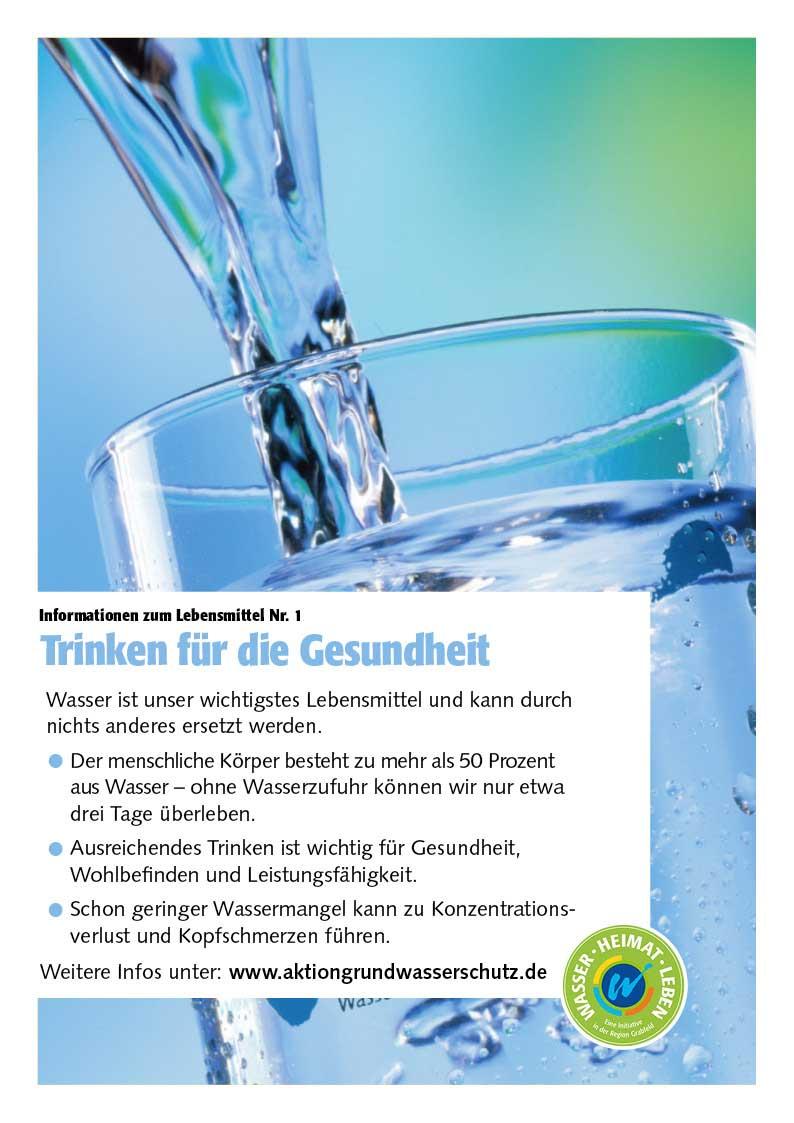"""Poster zum Thema """"Trinken für die Gesundheit"""""""