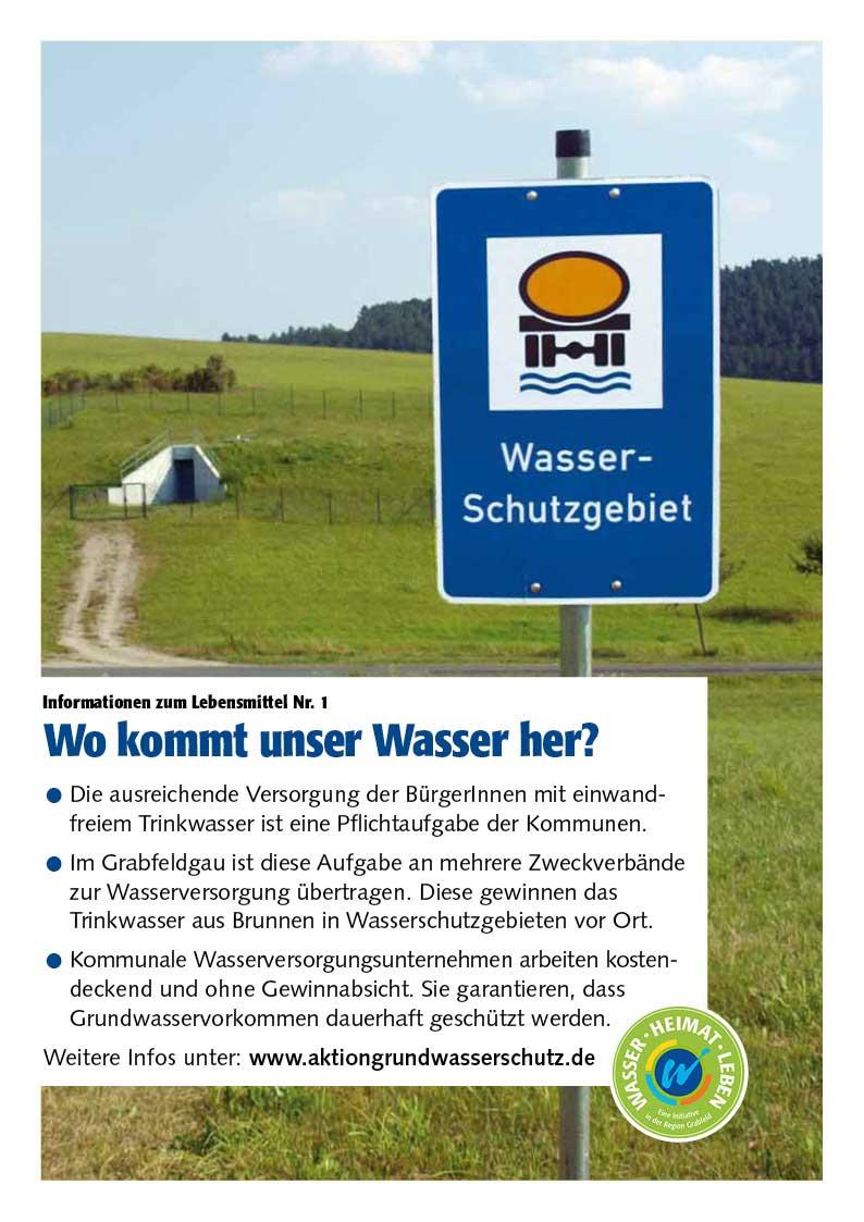 """Poster zum Thema """"Wo kommt unser Wasser her?"""""""