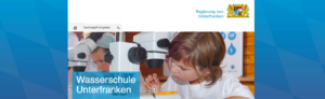 Kopf der Internetseite wasserschule-unterfranken.de