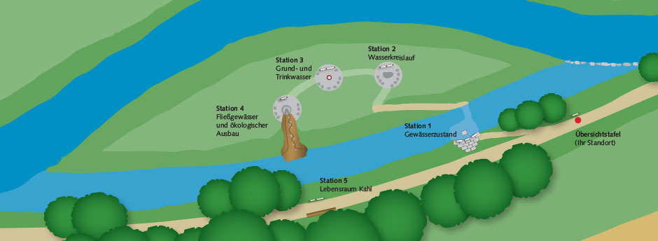 Übersichtskarte der Wasserinsel Alzenau