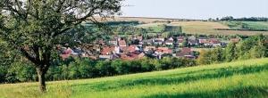 Dorfansicht in Unterfranken