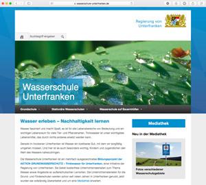 Webseite Wasserschule Unterfranken
