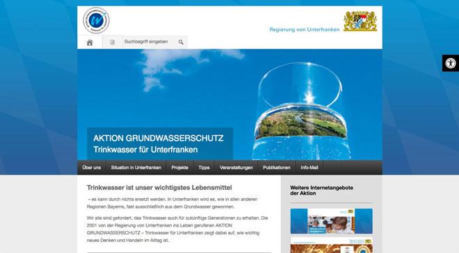 Webseite der AKTION GRUNDWASSERSCHUTZ